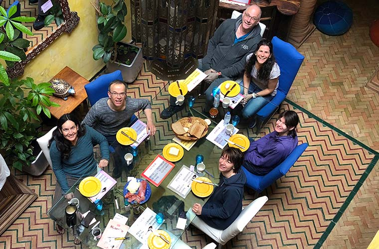 Gruppenfoto von oben